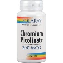 Chromium Picolinate Solaray 200 mcg 50 Comprimidos