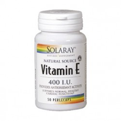 Vitamina E Solaray 50 perlas