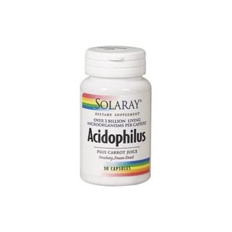 Acidophilus Plus Ayuda Digestiva Solaray 30 Cápsulas