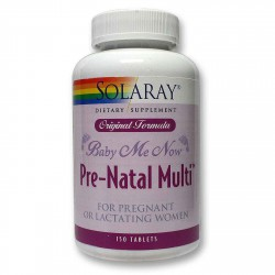Baby Me Now Prenatal Multi Embarazo y Lactancia Solaray 150 Comprimidos