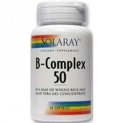 B-Complex Vitamina B Solaray 50 Cápsulas