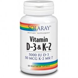 Vitamina D3 & K2 Solaray 60 Cápsulas