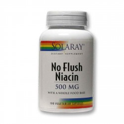 Niacin 500 Mg 100 Cápsulas Vegetales Vitaminas Solaray